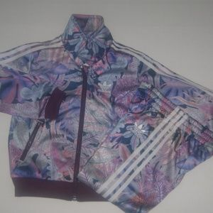 Adidas Baby Girl 2 Piece Track Suit 18 months